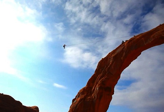 kyle lee stocking corona arch moab - dare devil deaths