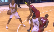 LeBron James Was Flopping Again, and the Pacers Fans Let Him Hear About It (Video + GIF)