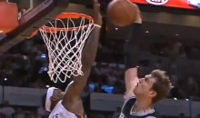 LeBron James' Block on Tiago Splitter During Game 2 of the NBA Finals Was Ridiculous (Video)