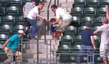 Dad Steamrolls His Own Kid to Get to Historic Home Run Ball (Video + GIF)