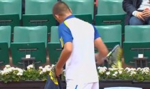 Mikhail Youzhny Takes His Frustration Out On a Tennis Racket at the French Open (Video)