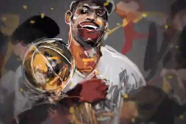 nba finals animated promo (LeBron James)