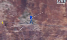 Nik Wallenda Tightrope Walked Across a 1,500-Foot Gorge, Not the Grand Canyon, with No Safety Harness (Video)