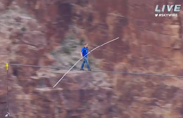 nik walenda tight rope walk across canyon