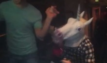 Patrick Kane Wears a Unicorn Head as Blackhawks Partied With Fans Last Night (Video)