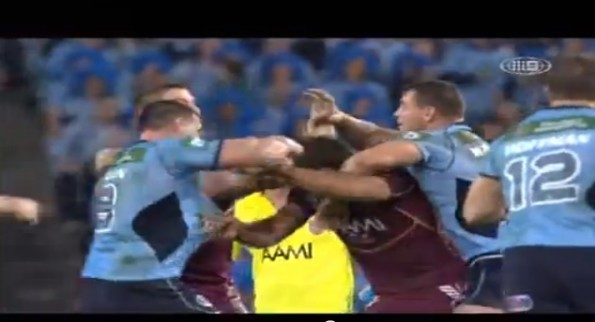 paul gallen vs nate myles rugby fight