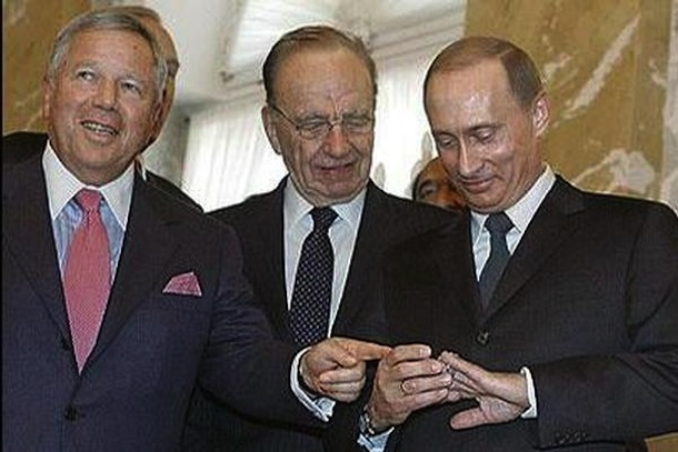 robert kraft and vladimir putin super bowl ring