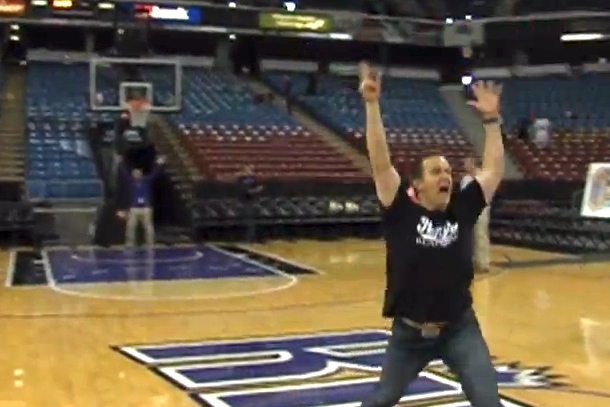 sacramento kings half-court shot season ticket contest