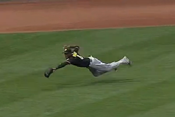 starling marte awesome catch