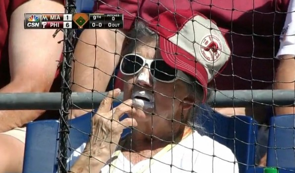 sunscreen lips phillies fan