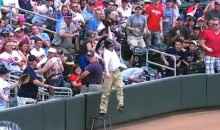 Twins Ball Boy Makes Great Leaping Catch (Video)