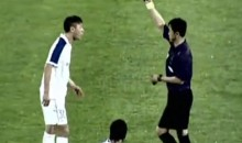 Chinese Soccer Player Ejected for Dragging Injured Opponent Off the Field (Video)