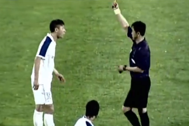 wang shouting chinese soccer player