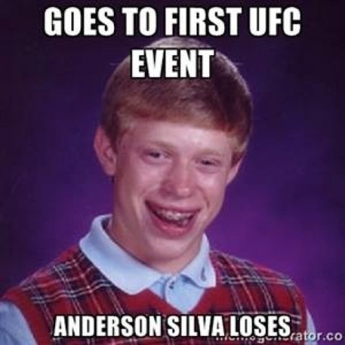 1 bad luck brian - anderson silva knockout memes
