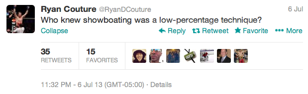 1 ryan couture - best athlete twitter reactions to anderson silva knockout