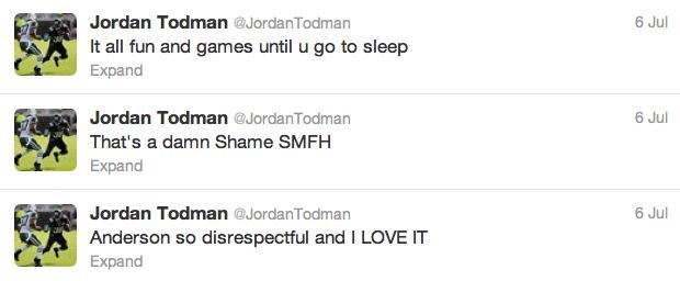 10 jordan todman - best athlete twitter reactions to anderson silva knockout
