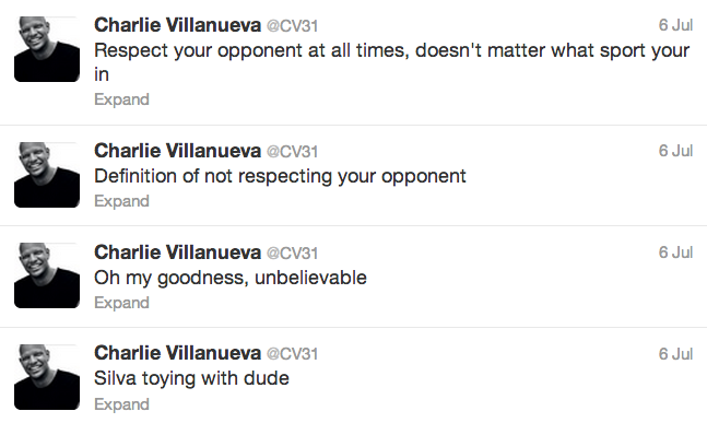 11 charlie villanueva - athletes react on twitter to anderson silva knockout