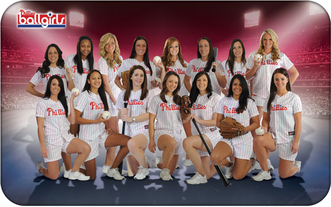 12 2013 Philadelphia Phillies Ball Girls - MLB Cheerleaders