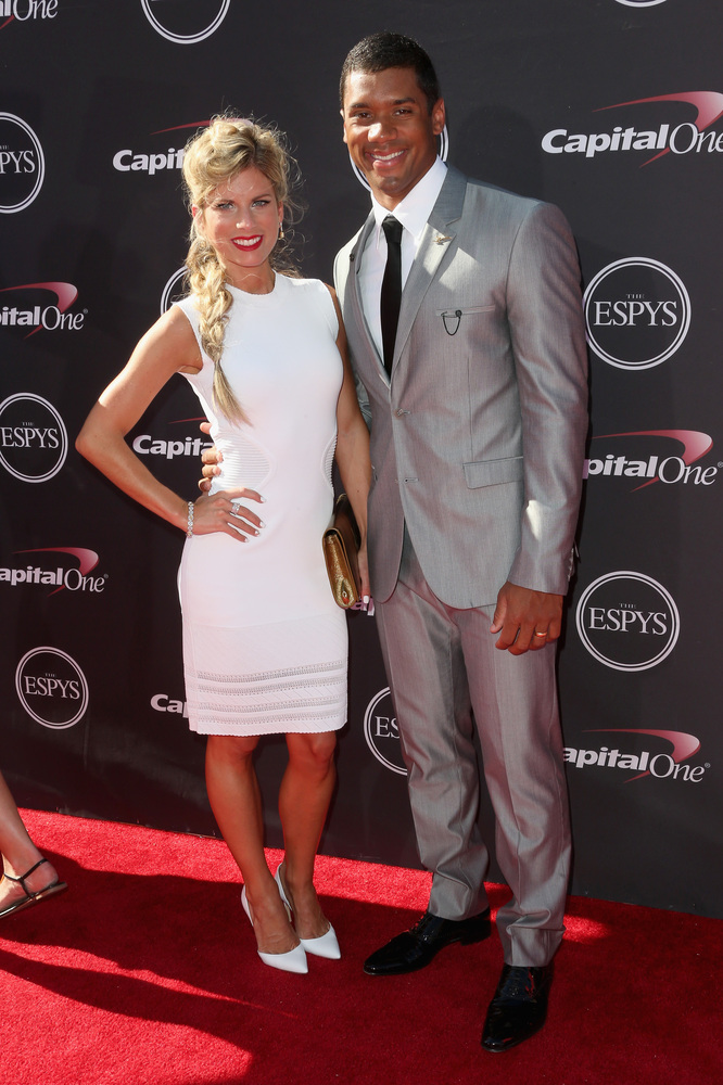 12 Ashton Meem with Russell Wilson - hottest women 2013 espys red carpet