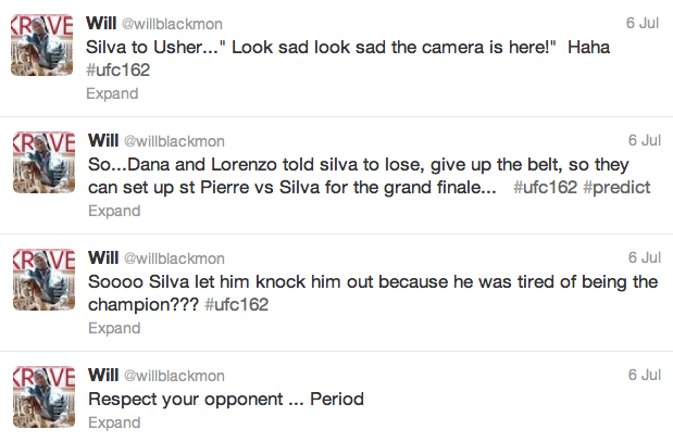 12 will blackmon - best athlete twitter reactions to anderson silva knockout