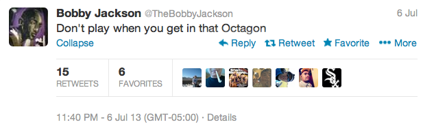 13 bobby jackson  - best athlete twitter reactions to anderson silva knockout