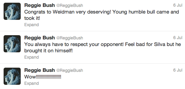 14 reggie bush  - best athlete twitter reactions to anderson silva knockout