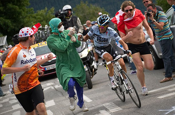 19 surgeon costume - crazy tour de france fans