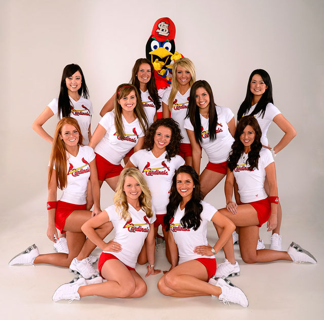 2 2012 St. Louis Cardinals Team Fredbird - MLB Cheerleaders