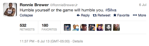 2 ronnie brewer - best athlete twitter reactions to anderson silva knockout