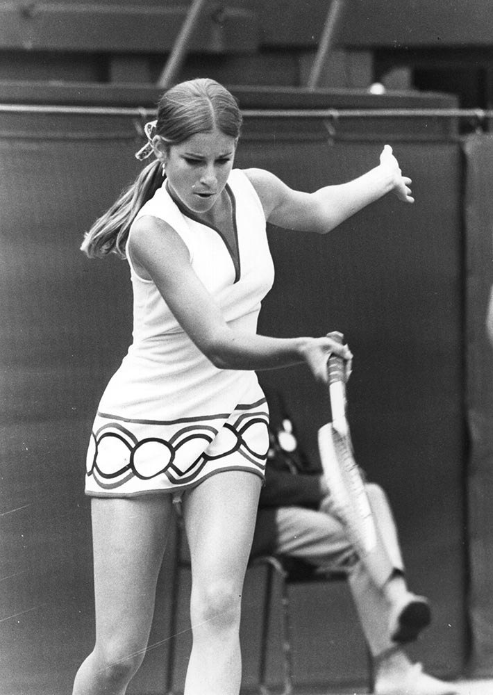 20 chris evert 1972 - wimbledon fashion icons