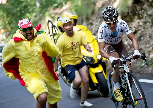21 chicken man crazy tour de france fans