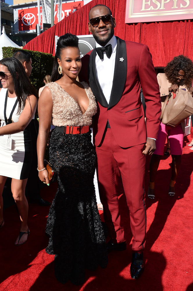 21 lebron james wife - hottest women 2013 espys red carpet
