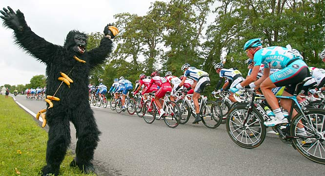 24 ape suit - crazy tour de france fans