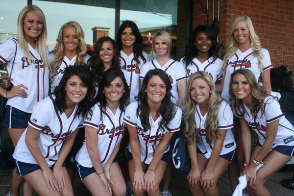 3 2013 Atlanta Braves Tomahawk Team - MLB Cheerleaders
