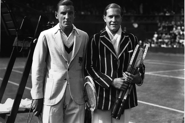3 fred perry (with gottfried von cramm) 1931 - wimbledon fashion icons