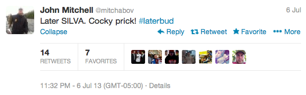 3 john mitchell - best athlete twitter reactions to anderson silva knockout