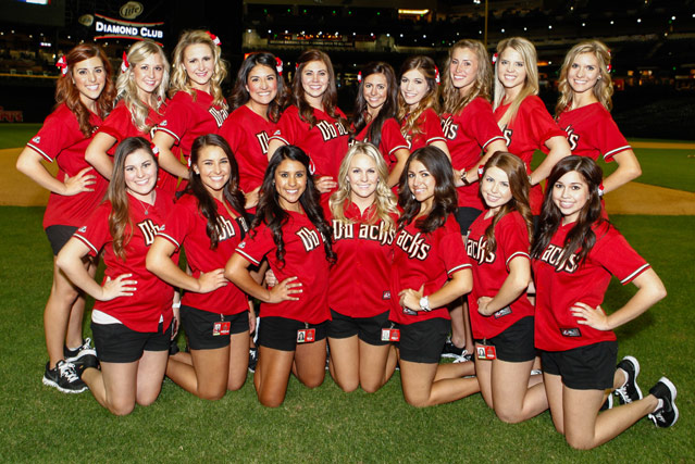 5 2013 Rally-Backs (Arizona Diamond Backs) - MLB Cheerleaders