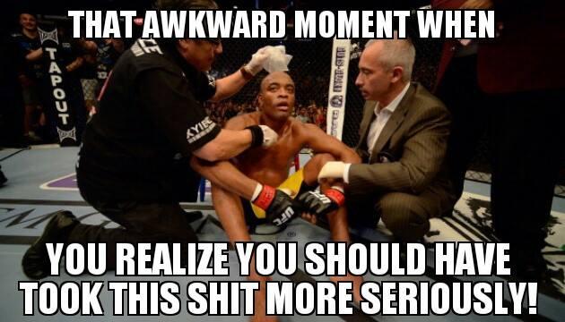 6 awkward moment - anderson silva knockout memes