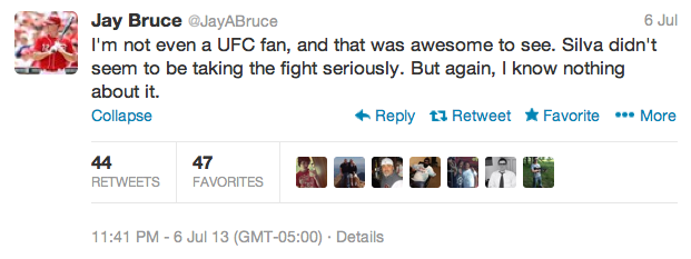 6 jay bruce - best athlete twitter reactions to anderson silva knockout