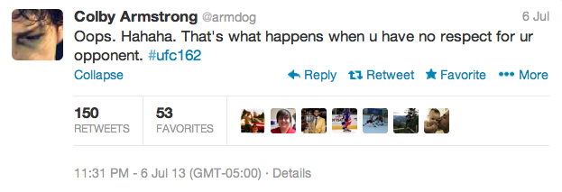 8 colby armstrong  - best athlete twitter reactions to anderson silva knockout