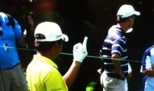 Golfer D.H. Lee Flips Off Gallery After Bad Shot (Video)
