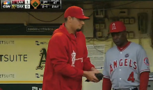 Anaheim Pitcher Dane De La Rosa Played 'Angel in the Outfield' to Injured Pigeon in Oakland Last Night (Video)