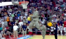 Watch U.S. Airman Nathaniel Mills Throw Down a Sweet Windmill Dunk in Full Fatigues and Combat Boots (Video)