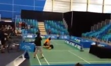 Badminton Fight! (Video)