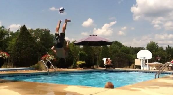 basketball pool trick shot