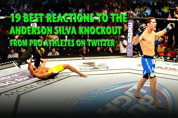 best twitter reactions anderson silva knockout