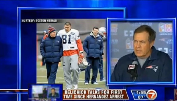 bill belichick press conference aaron hernandez