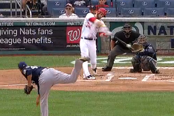bryce harper home run first at-bat off dl