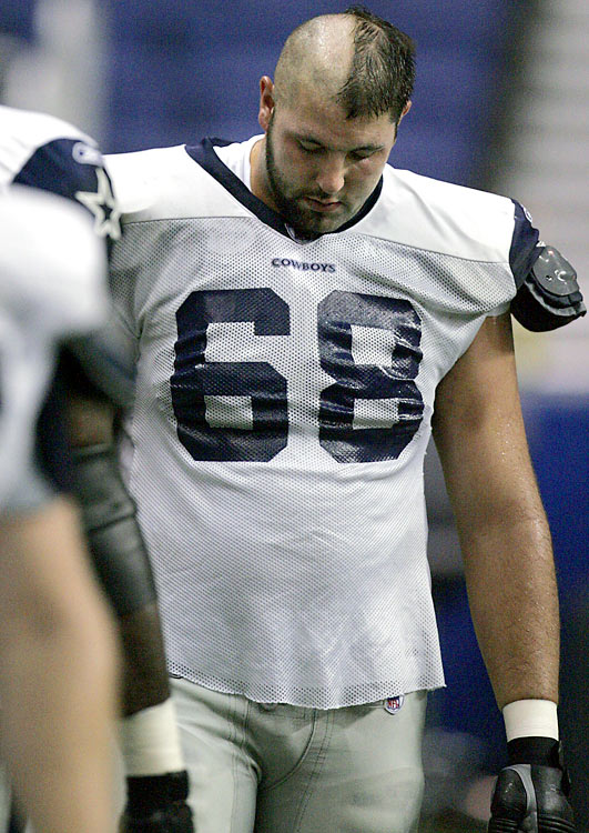 doug free (cowboys 2007) - nfl training camp hazing hairdos