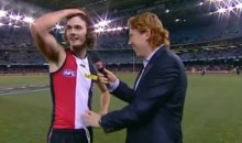 Aussie Football Player Was Taking Gibberish to Reporter After Taking Massive Blow to the Head (Video)